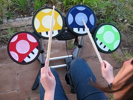 Rock Band Mushroom Drum Pads: nearly too awesome to hit