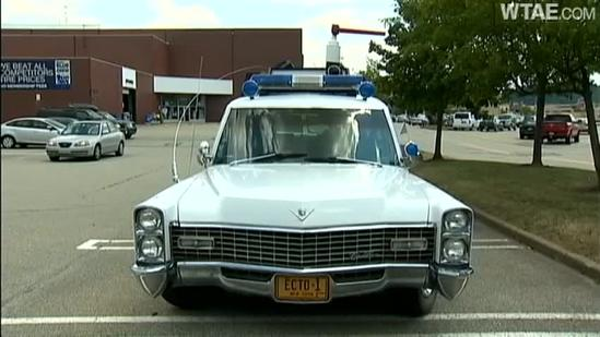 Officer turns old hearse into his own Ecto-1