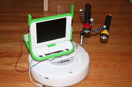 OLPC XO and iRobot Create brought together for telepresence hack