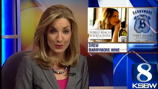 Drew Barrymore promotes new wine at Pebble Beach Food and Wine