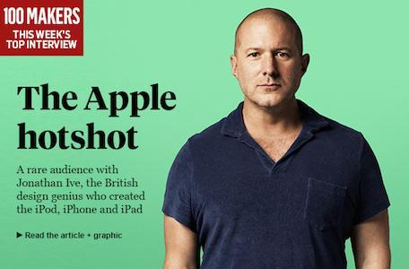Jony Ive talks design with The Sunday Times, and other news for March 17, 2014