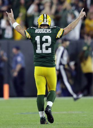 a78911fc1a5 Packers QB Rodgers questionable for Vikings