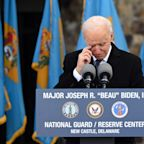 Biden Tearfully Honors Late Son Beau: 'We Should Be Introducing Him As President'