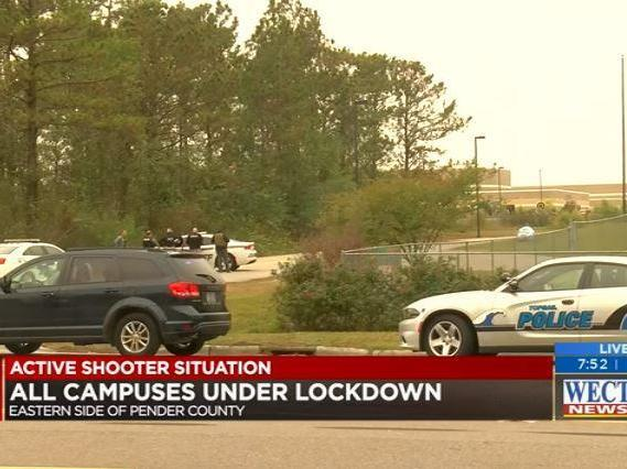Topsail High School: Armed storm North Carolina school after 'malfunctioning heater' sparks fears of active shooter