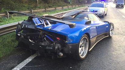 £1.5m 'one-off' supercar crashes into barrier
