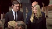 Ivanka Trump and Jared Kushner attend McCain funeral service after the president wasn't invited