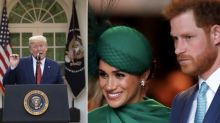 Donald Trump se posiciona contra Meghan y Harry