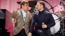 Watch 'Rocketman' star Taron Egerton sing 'Tiny Dancer' at Elton John's Oscars party
