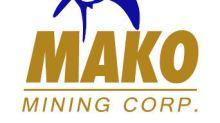 Mako Mining Corp. Announces Grant of Stock Options