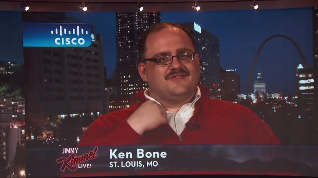 Ken Bone talks about his newfound internet fame on Jimmy Kimmel ...