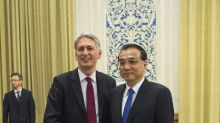 Britain's finance minister in China to promote trade