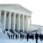 More than 100 of RBG's former clerks line the Supreme Court steps in a powerful display of her legacy