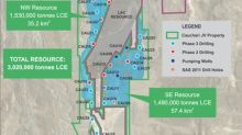 Cauchari JV Project Update Continued Success in Phase III Program in the SE Sector with Hole CAU22 averaging ~550 mg/l Li