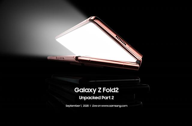 Samsung will give the Galaxy Z Fold 2 a proper unveiling on September 1st