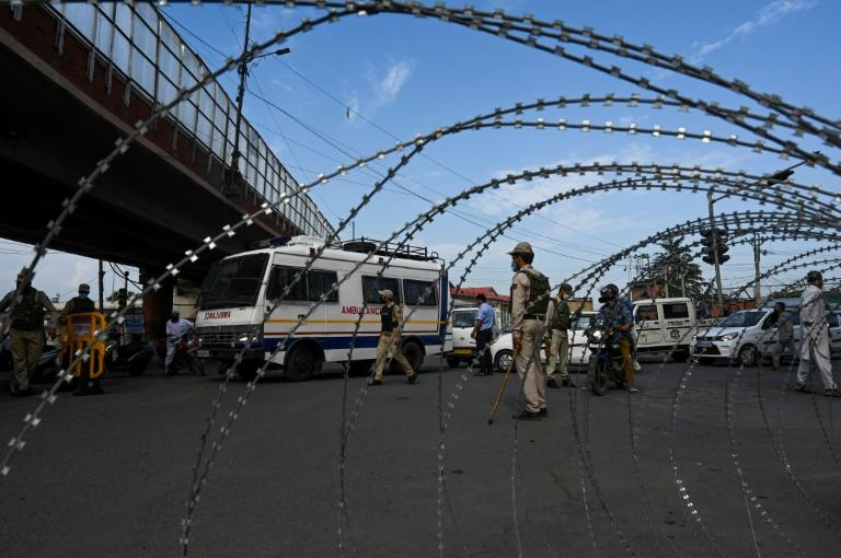 Indian-administered Kashmir was placed under lockdown for the anniversary (AFP Photo/Tauseef MUSTAFA)