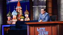 Colbert's shows from Russia are winners for CBS