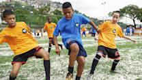 Local Brazilian youth team shows their skills