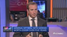 Adidas CEO: Believe there's 'so much upside' in Arsenal