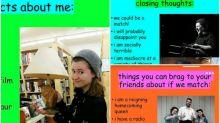22歲女學生Tinder大熱 超搞笑自我介紹網上熱傳