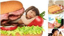 日本Subway愚人節出新產品 巨型床舖邊食邊瞓