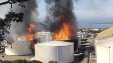 Huge fire at Bay Area oil facility prompts health warnings to nearby residents
