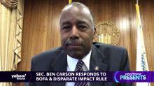 Secretary Ben Carson responds to Bank of America & disparate impact rule