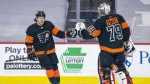 Konecny records hat trick, leads Flyers past Penguins 5-2