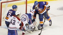 Islanders' Johnny Boychuk takes opponent's skate to eye
