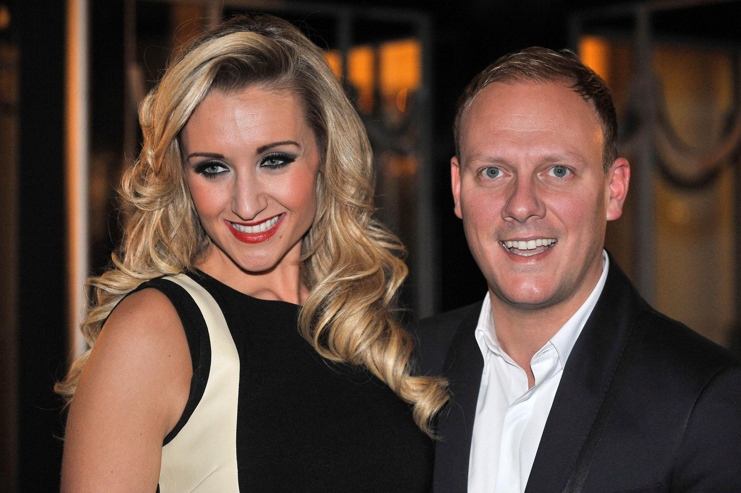 Antony Cotton (right) and Catherine Tyldesley arrive for the Radio Times Covers Party, at Claridges Hotel, London.