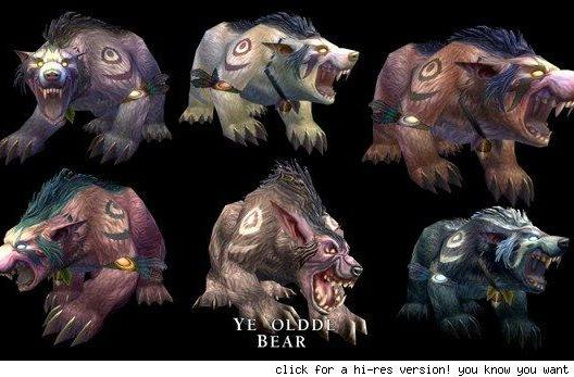 Night Elf Druid bear forms revealed