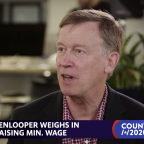 John Hickenlooper weighs in on raising the minimum wage