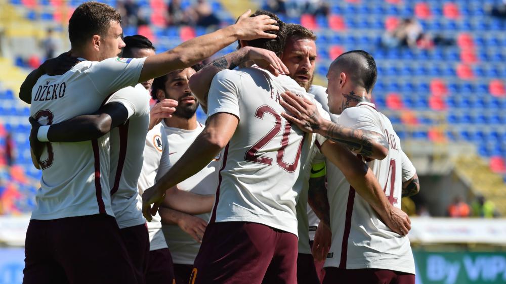 Dzeko et la Roma se baladent à Bologne