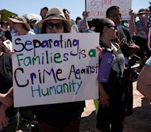 Protesters March On Texas Tent City To Oppose Family Separations