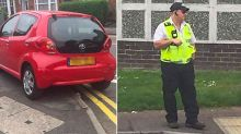 'I can park wherever I like': 'Hypocrite' traffic warden dishes out fines while parked on double yellow