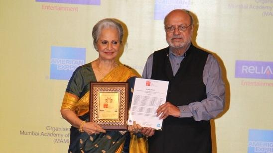 Waheeda Rehman Honored With Lifetime Achievement Award At MAMI