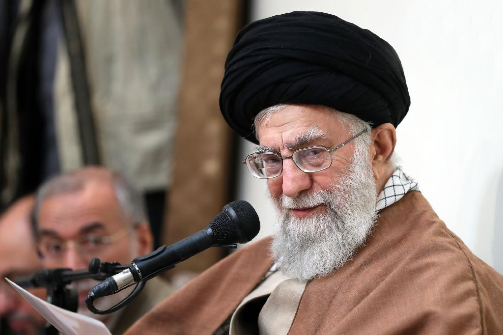 Supreme leader Ayatollah Ali Khamenei says Iran's enemies are 'using all their means' to create problems for the Islamic regime (AFP Photo/Handout)