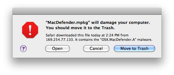 Apple cracks down on MacDefender, prevents malware downloads with daily quarantine list