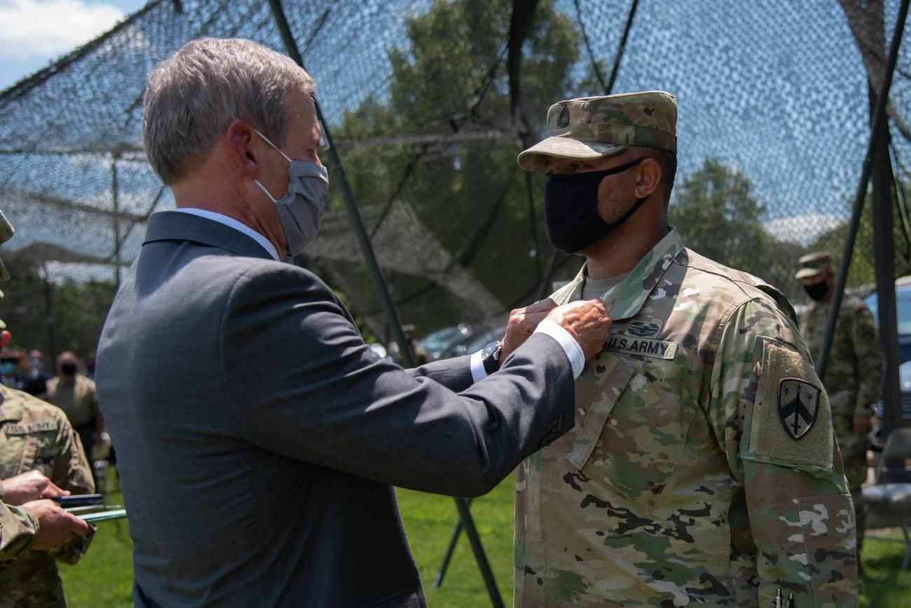 National Guardsman Gets Heroism Medal for Stopping a Shooting at a Football Game