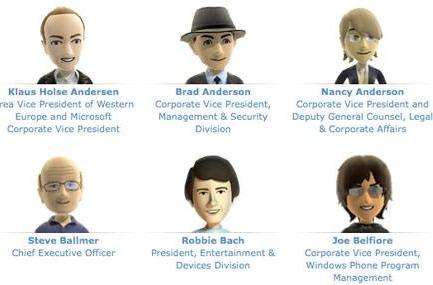 Microsoft executives get their own public avatars, may never age