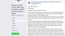Nottinghamshire Police apologise for 'victim-blaming' in 'sexist' Facebook post