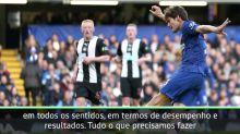 """FUTEBOL: Premier League:  Lampard: """"Chelsea deve usar as quatro primeiras posições como incentivo"""""""