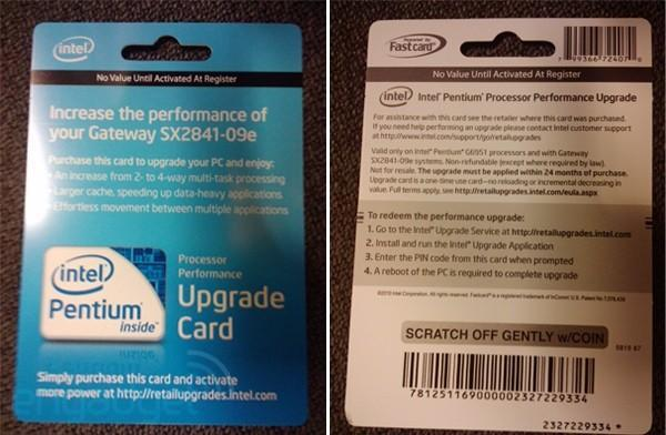 The Intel Upgrade Service: Once again charging you $50 to do stuff your CPU already does