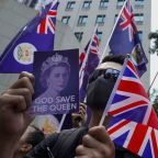 Hong Kong protesters sing 'God Save the Queen' in plea for help from Britain