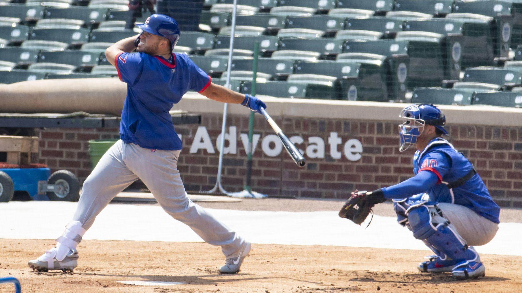 Victor Caratini starts at DH and Nico Hoerner at second base in the Cubs' opener against the Brewers