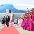 Modi Greets Trumps on Their Arrival in India