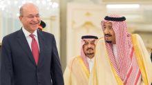 Iraq's president meets Saudi king after visiting rival Iran