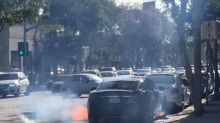 Tesla Model S of Hollywood Director Catches Fire in Traffic [Video]