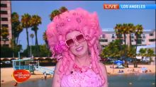 Kitten Kay Sera the pinkest lady in the world