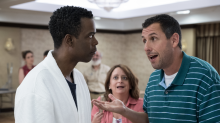 The wedding slingers: Adam Sandler and Chris Rock make their new Netflix movie 'The Week Of' work