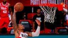 Lillard scores 51 in Portland win as Sixers lose Embiid